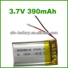 3.7v 390mah Lithium Polymer Battery For Electronic Pen