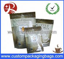 Ziplock Aluminium foil coffee packaging bag with air valve