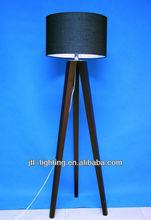 JTL- FL3962 Moroccan Decorative Hotel Cheap Fancy led Natural Wood Handmade Modern Tripod wooden Floor Lamp