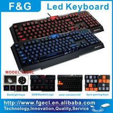 Hot selling Shenzhen Custom Led illuminated gaming keyboard