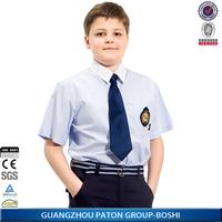 New Design Cheap Boy' s Cotton Primary School Band Uniform Shirt BS7109