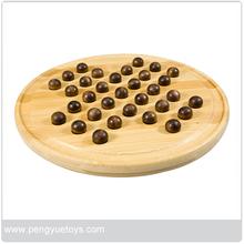 De hueso de viaje solitario tablero de juego con mármoles, de ajedrez para adultos o niños