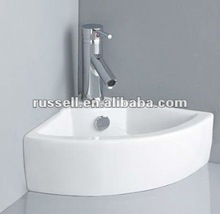 Bathroom wall hang sink corner wash basin 1007