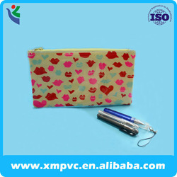 2014 School pvc plastic pencil case with piping edge XYL-S009