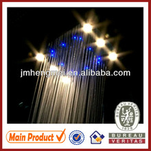 led ceiling shower 500*360mm water powered polished stainless steel led ceiling shower