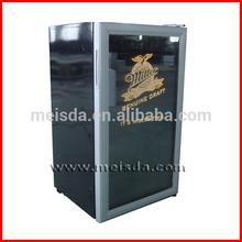 98L Stainless Steel Glass Door Display Cooler, Beverage Cooler