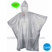 Durable colorful PVC Rain Poncho