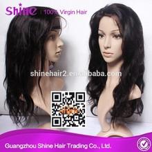 2014 Hot selling virgin hair baby hair full lace wig unprocessed brazilian human hair wig