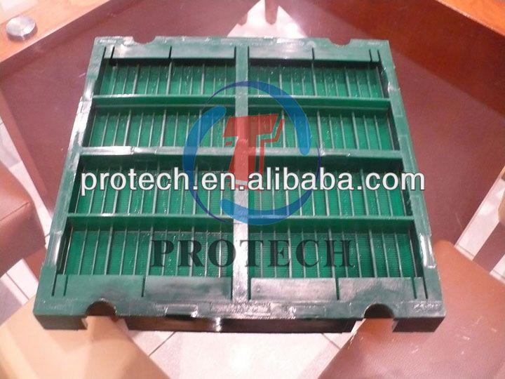 Low noisy making customized polyurethane sieving screen