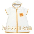 Baby smocked bathing gown