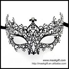 MA005-BK Wholesale Luxury Italy Venice Design Finest Design Filigree Metal Masks With Rhinestones Hot Sell