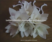 Artificial sola wood flowers