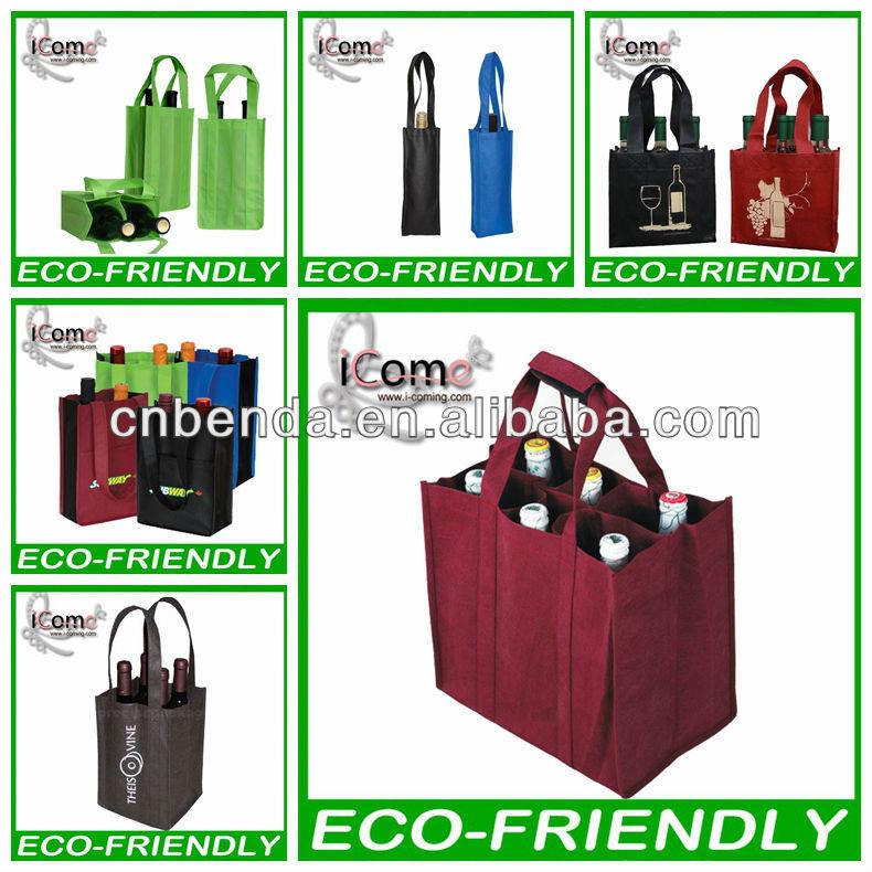 Hot selling_Non woven wine bag/wine carry bag/wine bottle bag