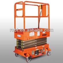 240kg Mobile hydraulic mini scissor lift/ working height: 5m/6m