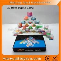 children 3d plastic maze game cube