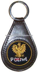 Embroiderd Key Fob   PolNet Key Ring   Polish Eagle Key Fob