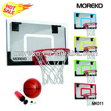 "Mini Basketball Backboard/Hoop MK011 with 18"" PC/Fiberglass/Acrylic Backboard,spring ring/rim"