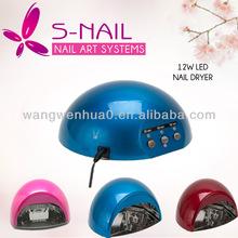 Profession Salon 12W LED Lamp Dryer,LED Dryer , Gel Nail Polish Curing Light w/ Timer UV Round RED