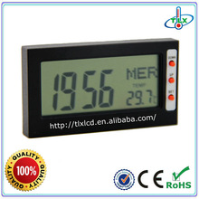 Portable Digital LCD Travel Alarm Clock With Thermometer