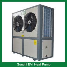 Slovakia -25C winter EVI tech. floor heating100sq meter room 12kw/19kw auto defrost split heat pump heater and air conditioner
