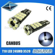 stock sale 3528 w5w t10 led canbus led car bulb