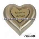 Brass Heart Brass Metal Cremation Funeral Urn Keepsake