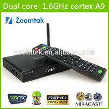 Alm 8726 MX dual core Smart TV Box android tv box full hd media player 1080p android tv box remote control