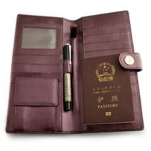 Bifold Unisex PU wholesale travel document wallet
