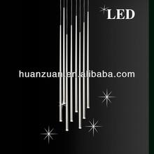 hottest new lobby&stair metal tube pendant lamp, ceiling lamp, led bead