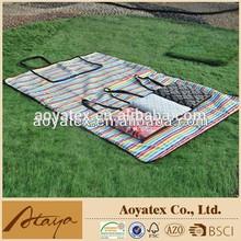 2014 new 100% printed cotton waterproof picnic blanket