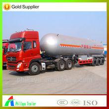 2015 50 cbm Liquefied Petroleum Gas tank trailer / truck tow semi trailer volume optional