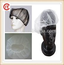 Disposable 19'/21' cheap black white blue nylon net cap/hairnets