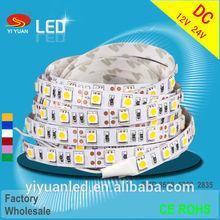2014Hot sale factoty wholesale flexible led strip 5050 waterproof ip65 ip68 300leds/5m 600leds/5m 12/24V factory wholesale price