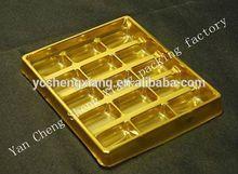 2014 hot selling Food grade 15 cavity plastic PET chocolate tray