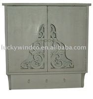 vintage furniture hanigng wall bathroom cabinet with doors
