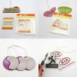 Custom air freshener / car air freshener paper / hanging car air freshener