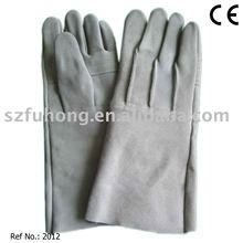 long cuff gauntlet mechanic leather cow split leather welding work gloves