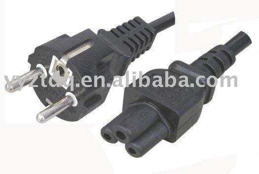 Europe 220V power cord SCHUKO Power plug
