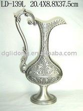 oblate exquisite metal vase