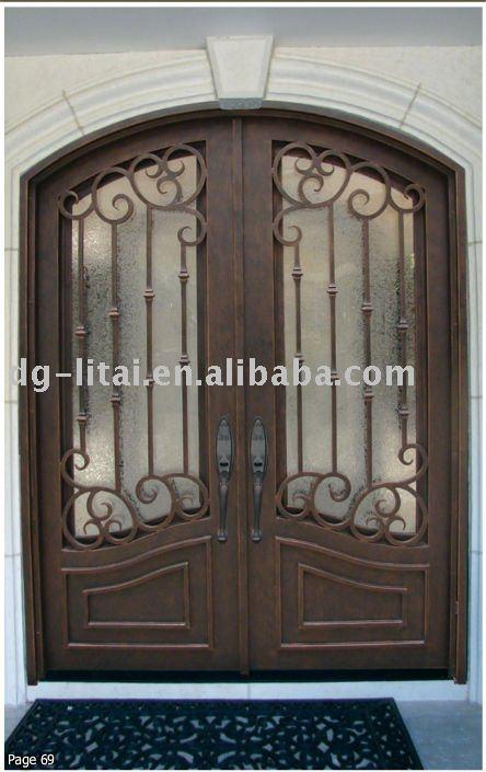 أبواب المدخل الرئيسي الحديد شواء التصميم