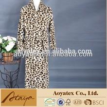 printed coral fleece bathrobe