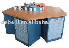 OEM Industrial Wood Top Steel Hexangular Workbench AX-3330