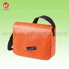 Environmental Orange PVC Leather Shoulder Bag