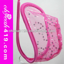 Hot wholesale see through pink sex c-string panty for men