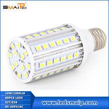 12w CRI more than 80 led corn light 60pcs 5050leds 3 years warranty