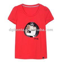 100% Cotton T shirts High Quality Woman Popular Printing T shirts In Humen
