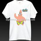 2012 Guangzhou 100% Cotton Cheaper tee shirt,Woman Casual Fashion White T-shirt cute screen printing design