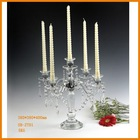 cheap small crystal candle holder glass candle sticker for wedding table centerpiece