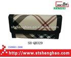 The black circle edge geometric pattern canvas substrate ladies purse