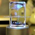 3d láser cubo de cristal/colgante/trofeo/llavero de la serie